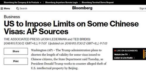 美国缩短中国公民签证有效期