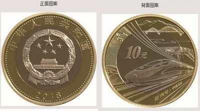 中国高铁普通纪念币