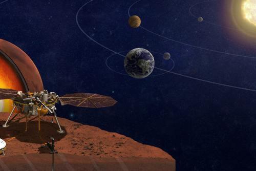 洞察号无人探测器在火星着陆